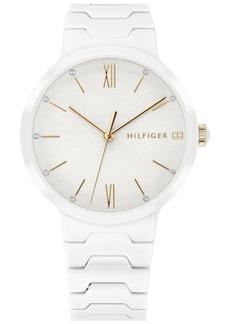 Tommy Hilfiger Women's White Ceramic Bracelet Watch 36mm