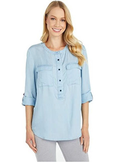 Tommy Hilfiger Women's Magnetic Button Shirt Regular Fit