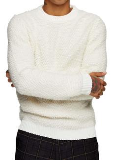 Topman Bouclé Crewneck Sweater