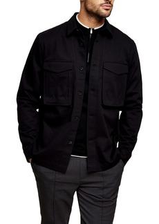 Topman Button-Up Twill Overshirt
