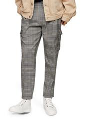 Topman Check Cargo Slim Fit Pants