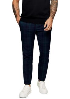 Topman Check Skinny Trousers
