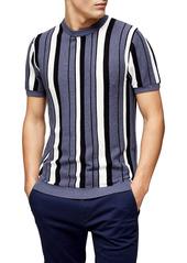 Topman Den Stripe Short Sleeve Sweater
