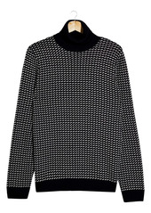 Topman Geometric Turtleneck Sweater