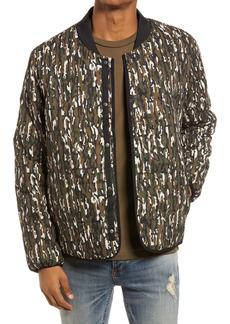 Topman Men's Camouflage Quilted Liner Jacket