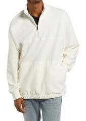 Topman Men's Corduroy Quarter Zip Pullover