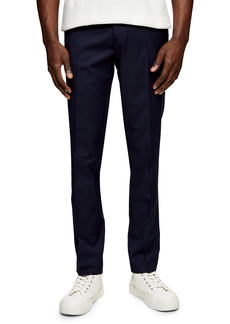 Topman Men's Gabardine Slim Fit Trousers
