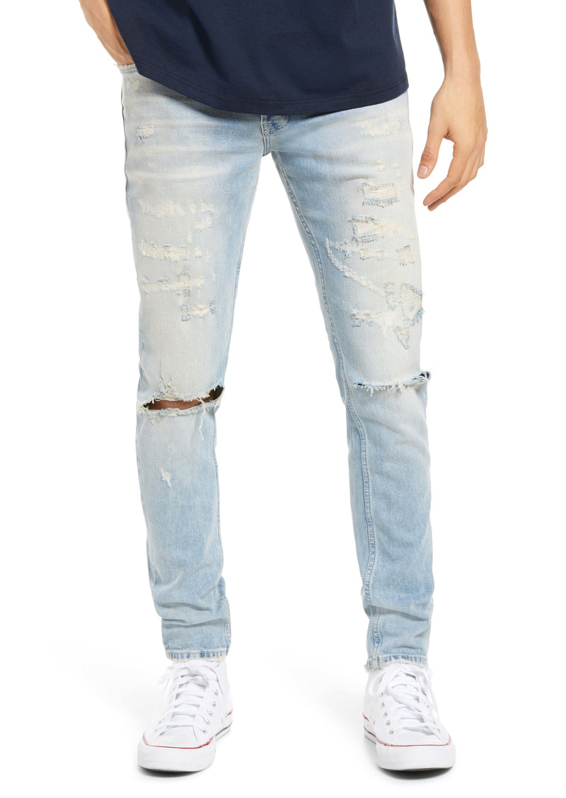 Topman Men's Ripped Skinny Jeans