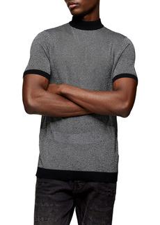 Topman Metallic Thread Short Sleeve Sweater