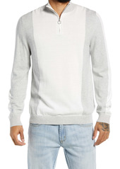 Topman Quarter Zip Cotton Sweater
