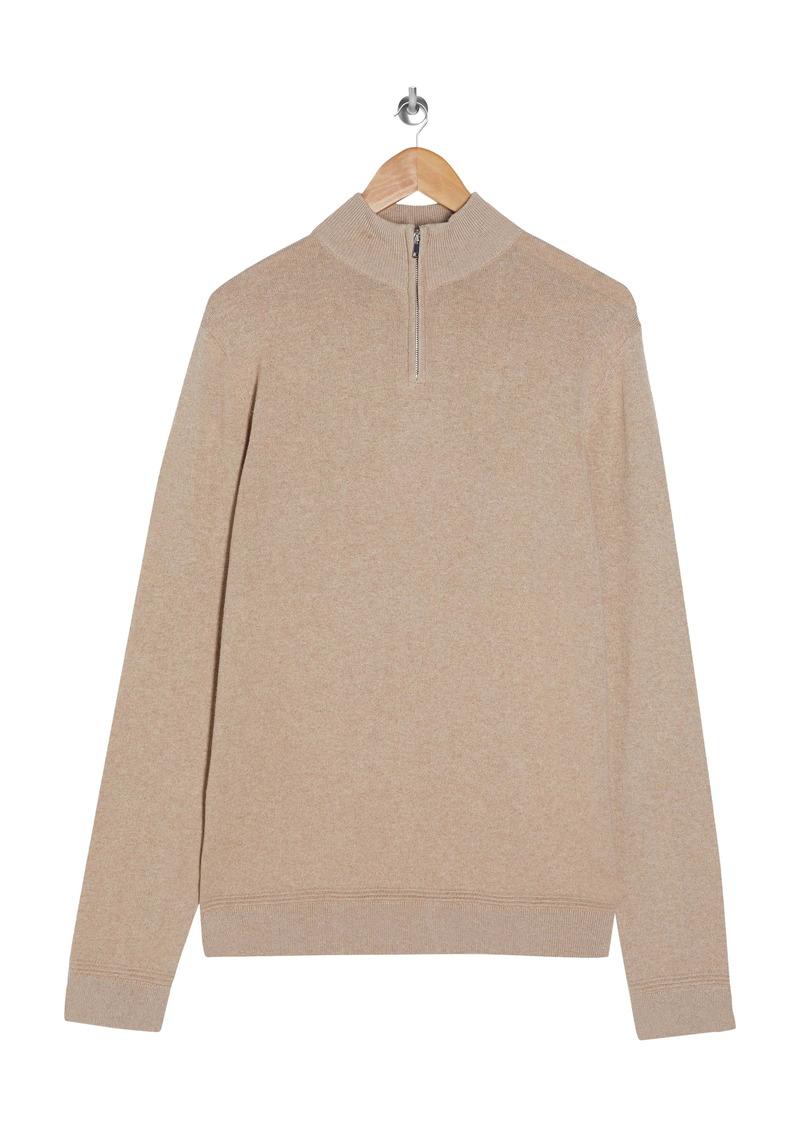 Topman Quarter Zip Funnel Neck Sweater