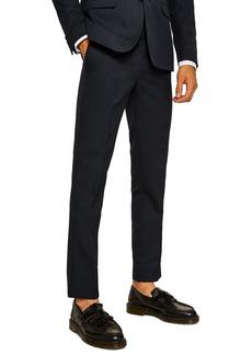 Topman Skinny Fit Textured Dress Pants