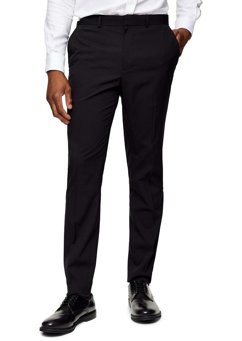 Topman Skinny Fit Tuxedo Dress Pants