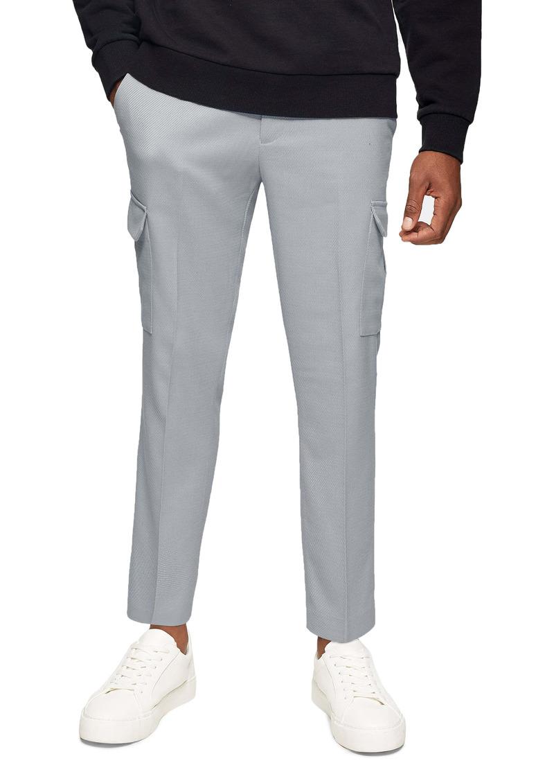 Topman Skinny Twill Cargo Trousers