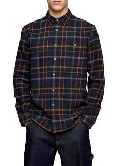 Topman Slim Fit Check Button-Up Shirt