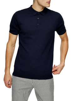 Topman Solid Knit Polo