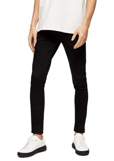 Topman Stay Black Ultra Skinny Fit Jeans