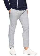 Topman Whyatt Check Drawstring Trousers