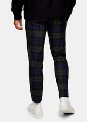 Topman Whyatt Plaid Drawstring Trousers