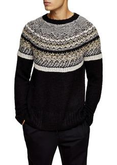 Topman Yoke Detail Crewneck Sweater