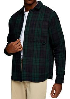 Topman Topshop Watch Plaid Button-Up Overshirt