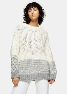 Topshop Clothing /Sweaters Knits /Black And White Chunky Three Stripe Knitted Sweater