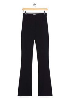 Topshop Bengaline High Waist Flare Trousers
