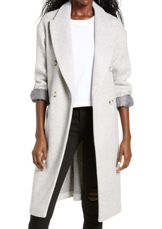 Topshop Brooke Double Breasted Long Coat (Regular & Petite)