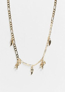 Topshop chain necklace in gold with cherub pendants
