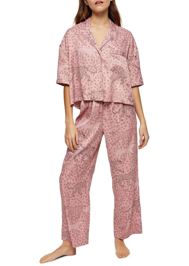 Topshop Chloe Animal Print Pajamas
