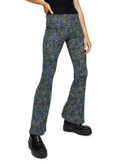 Topshop Color Pop Floral Flare Trousers