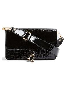 Topshop Croc Embossed Crossbody Bag