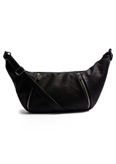 Topshop Croissant Faux Leather Crossbody Bag
