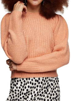 Topshop Crop Crewneck Sweater