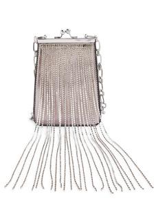Topshop Diamante Dangle Metallic Crossbody Bag
