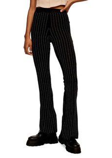 Topshop Diamante Flare Trousers