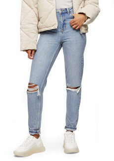 Topshop Double Ripped Mom Jeans (Regular & Petite)
