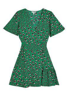 Topshop Floral Tea Dress