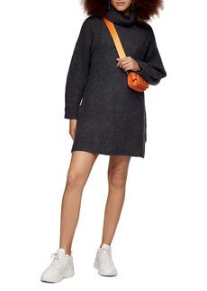Topshop Funnel Neck Sweater Dress