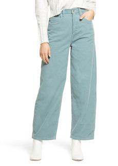 Topshop High Waist Corduroy Baggy Pants