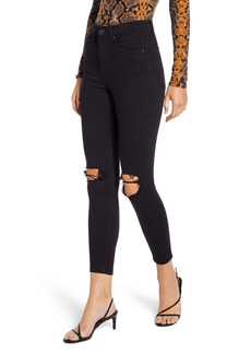 Topshop Jamie High Waist Ripped Skinny Jeans (Regular, Petite & Long)