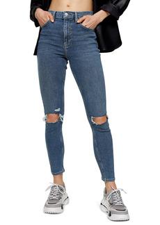 Topshop Jamie Ripped High Waist Crop Skinny Jeans (Regular, Petite & Long)