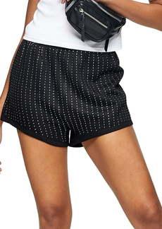 Topshop Jersey Diamante Shorts