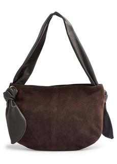 Topshop Knot Leather & Suede Shoulder Bag