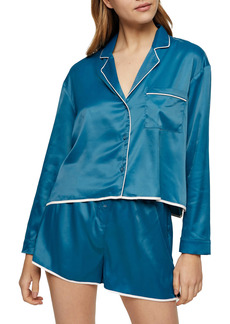 Topshop Kourtney Satin Short Pajamas