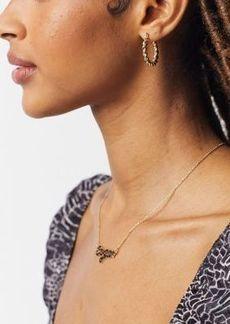 Topshop mini twist hoop earrings in gold