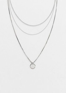 Topshop multirow necklace in silver
