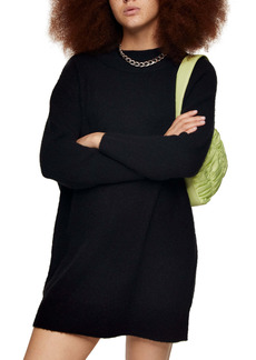 Topshop Oversize Long Sleeve Mini Sweater Dress