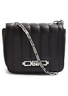 Topshop Quilted Faux Leather Crossbody Bag