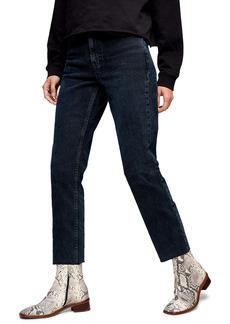 Topshop Raw Hem Crop Straight Leg Jeans (Regular & Petite)